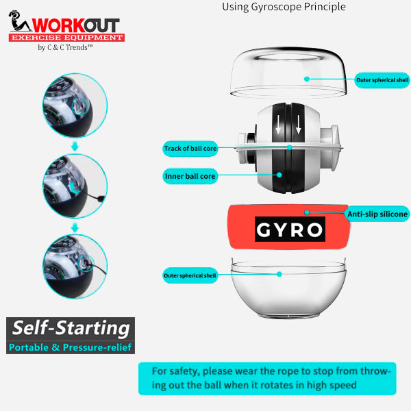 Self-starting Gyro Wrist Exercise Ball 7
