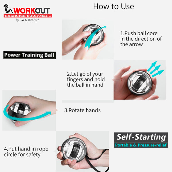 Self-starting Gyro Wrist Exercise Ball 8