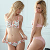 Silk Lace Flower Push up Underwear Set