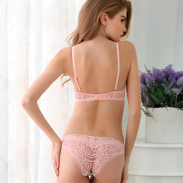 Silk Lace Flower Push up Underwear Set 5