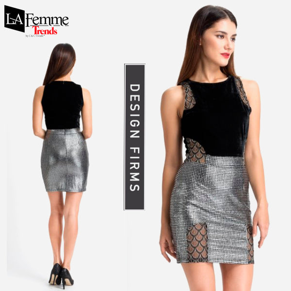 Silver Metallic Party Dress Collection 2