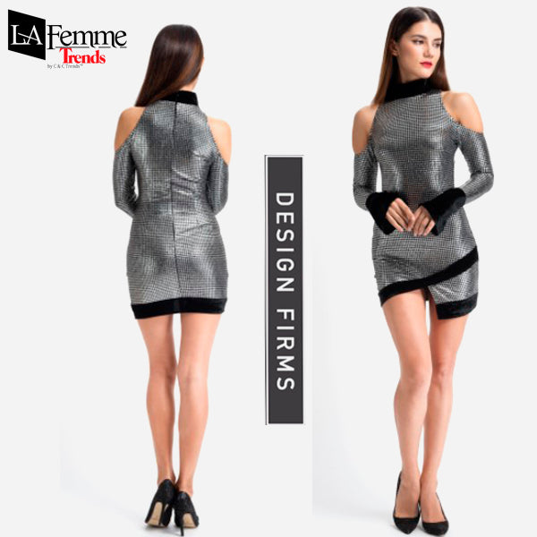 Silver Metallic Party Dress Collection 4