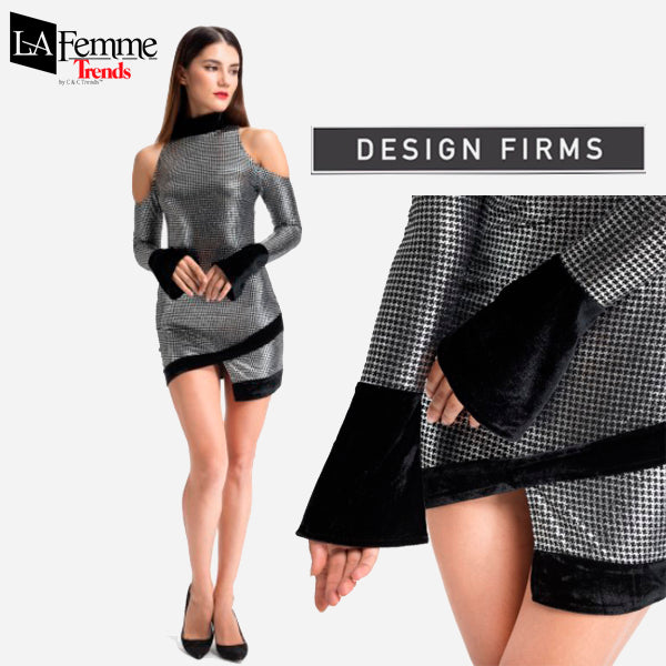 Silver Metallic Party Dress Collection 5