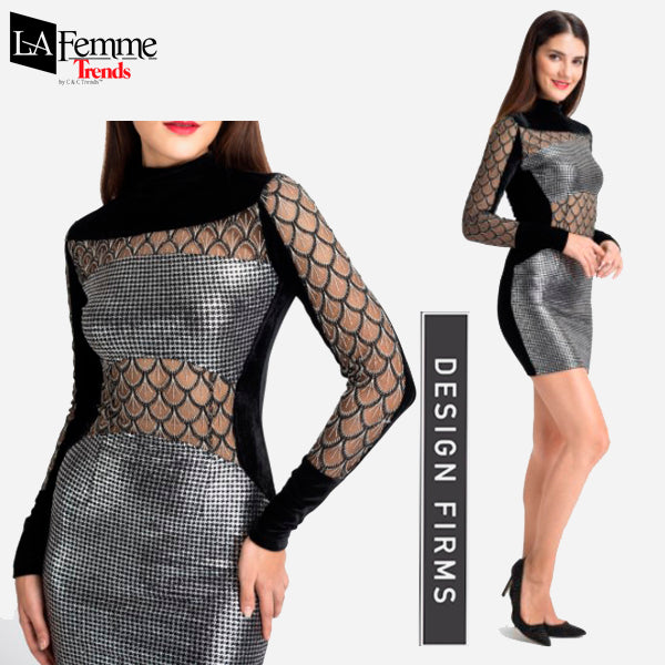 Silver Metallic Party Dress Collection 6