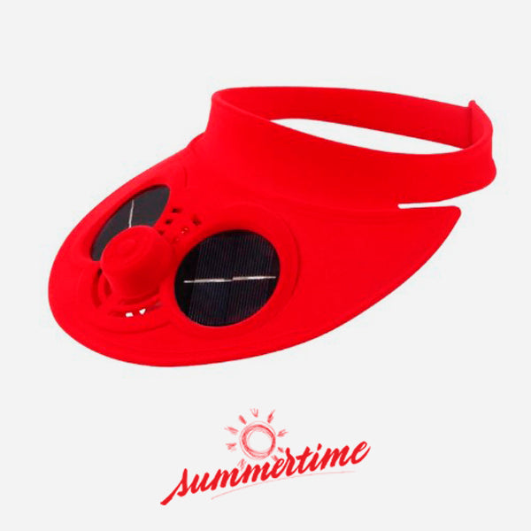 Solar Powered Air Fan Visor Cap