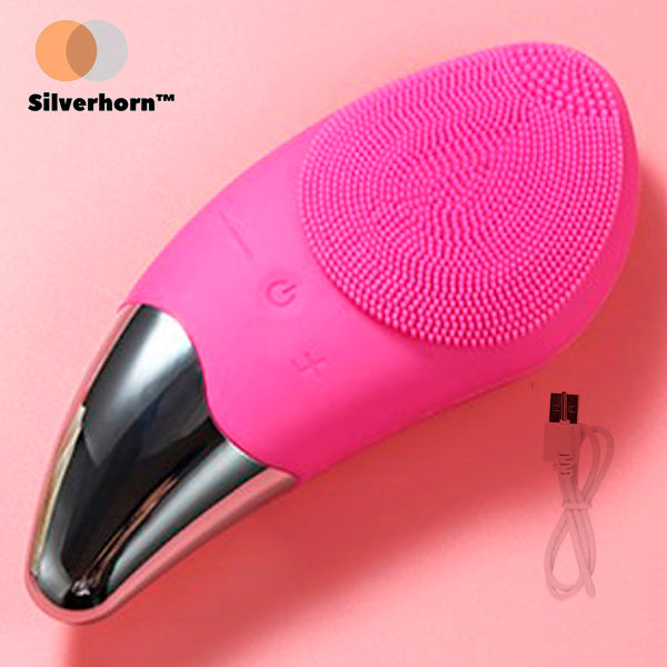 Sonic Silicone Facial Cleansing Brush (Silverhorn™)
