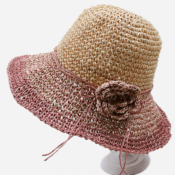 Stylish Flower Gradient Straw Hats