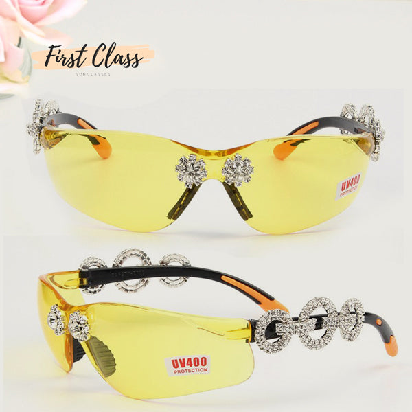 Stylish Rimless Rhinestone Sunglasses