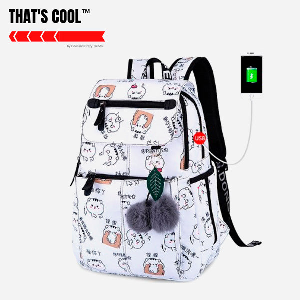 Superlight USB charging Kawaii backpacks