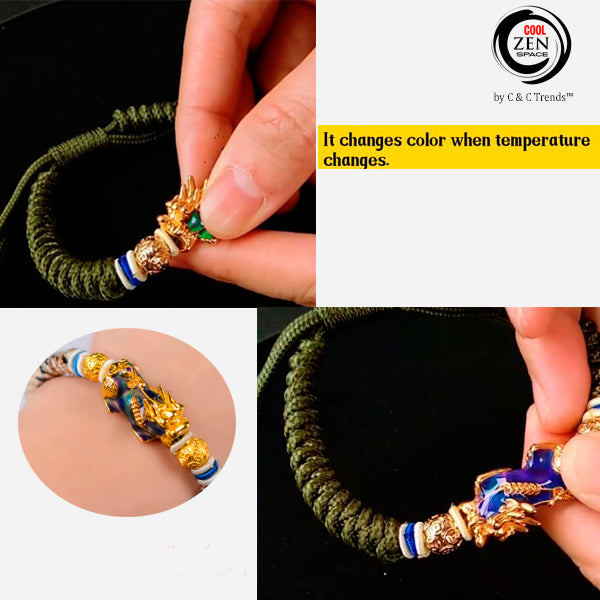 Thermochromic Energy Pixiu Rope Bangle 7a