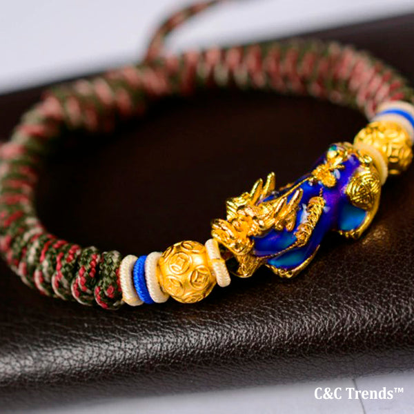 Thermochromic Energy Pixiu Rope Bangle