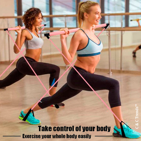 Total Body Workout Sticks Kit with Resistance Band 10