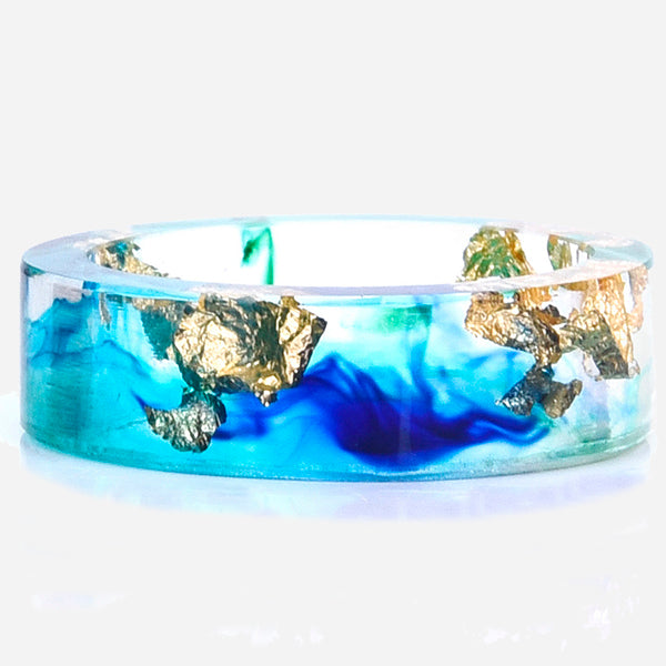 Transparent Flower Resin Ring