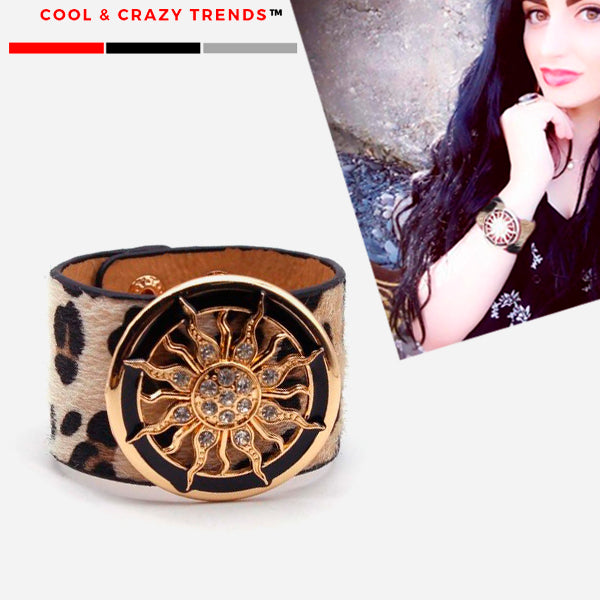 Trendy Leather Women Cuff Bracelet