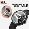 Turntable Stainless Steel Futuristic Watch 1