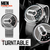 Turntable Stainless Steel Futuristic Watch 2