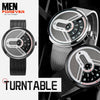 Turntable Stainless Steel Futuristic Watch 3