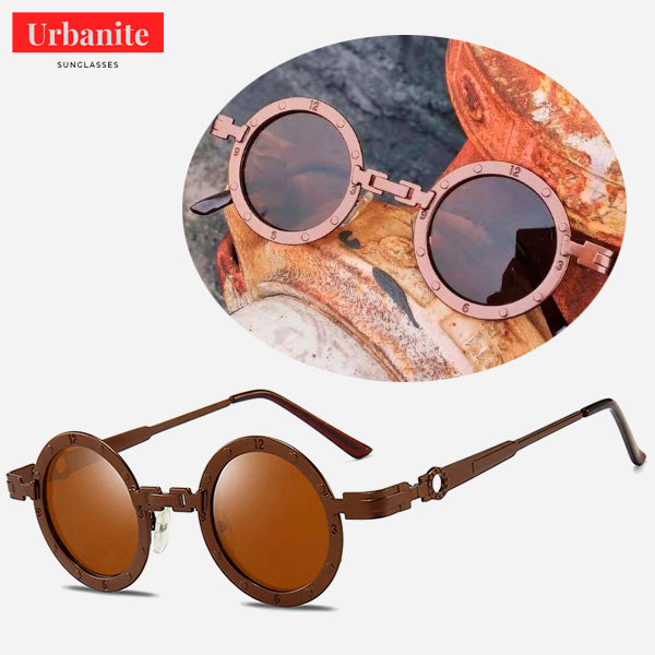 Vintage Clock Design Round Sunglasses 2