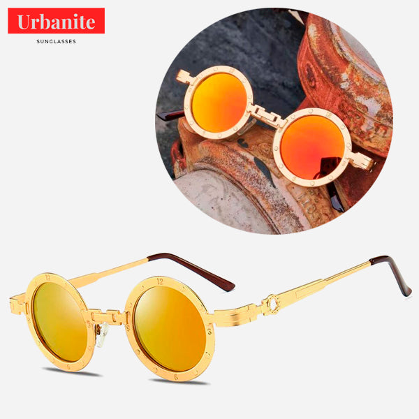 Vintage Clock Design Round Sunglasses 3