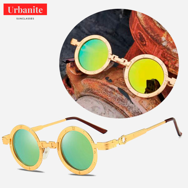 Vintage Clock Design Round Sunglasses 4