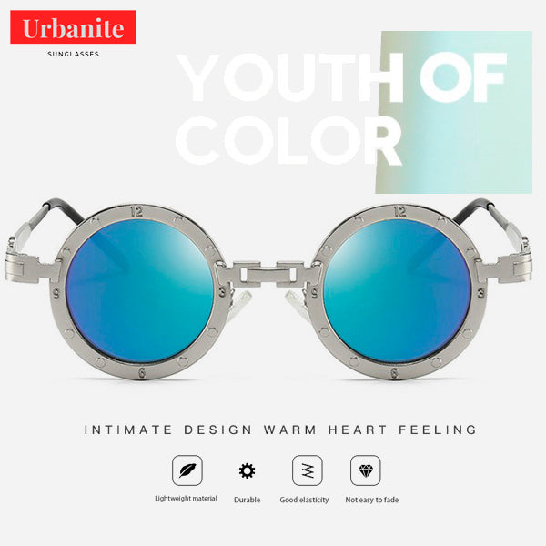Vintage Clock Design Round Sunglasses 8