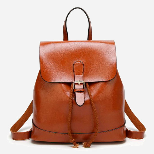 Vintage Wax Oil Skin Backpack