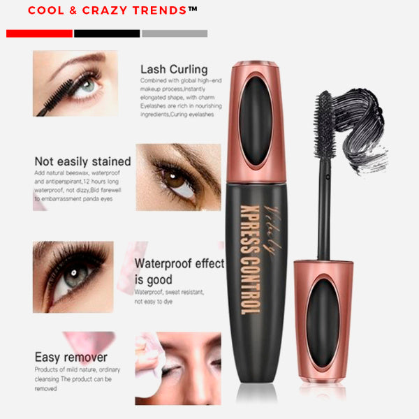 Waterproof 4D Silk Fiber Mascara for Eyelash