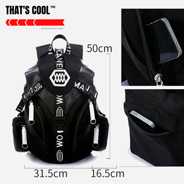 Waterproof USB Charging Urban Anime Backpack