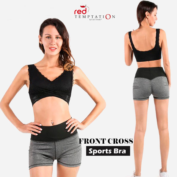 Wireless Front Cross Sport Bra (CROSSBRA™)