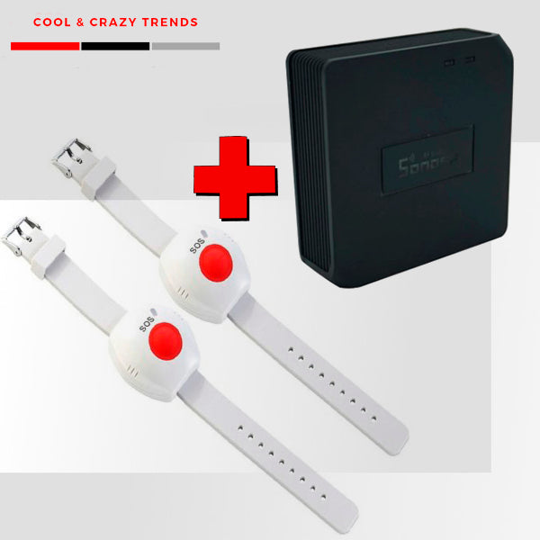 Wireless Panic Bracelet for Elderly with Smartphone Notice