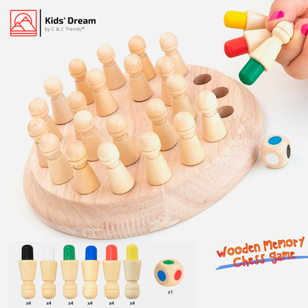 Wooden Memory Didactic Chess Game 2