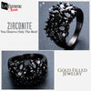 Zircon Bouquet Black Gold Filled Ring 11