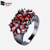Zircon Bouquet Black Gold Filled Ring 3