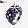 Zircon Bouquet Black Gold Filled Ring 5