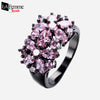 Zircon Bouquet Black Gold Filled Ring 6