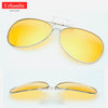 Aviator Polarized Clip On Sunglasses + Night Vision (2 x 1)