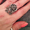 Romantic Vintage Big Rose Ring
