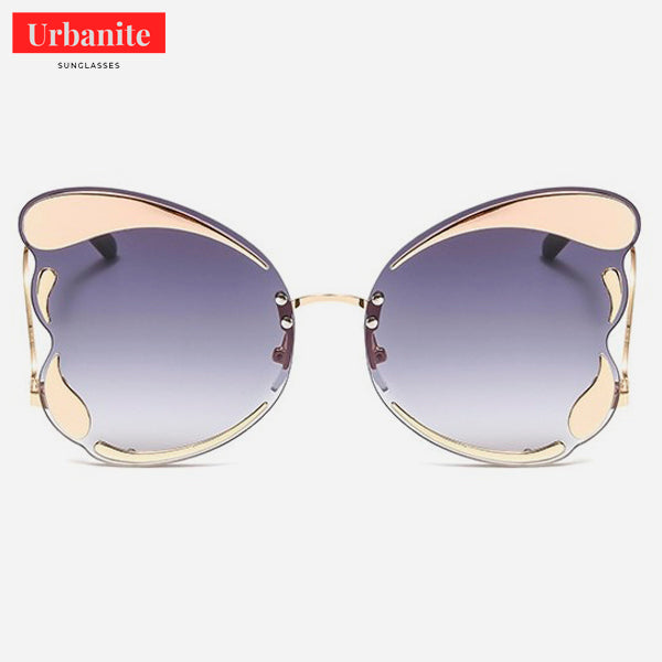 Butterfly Frame Oversized Cat eye Sunglasses