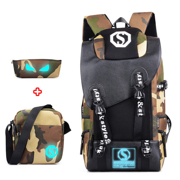 Luminous Camouflage Student School Bags