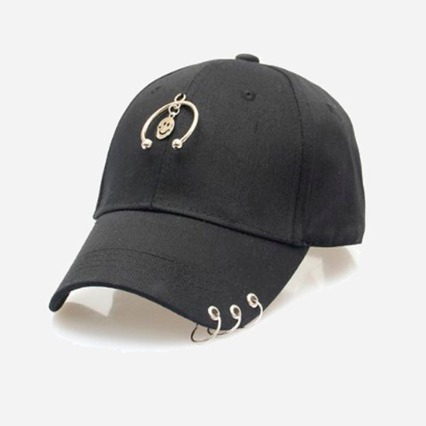 Unisex Snapback Caps with Rings