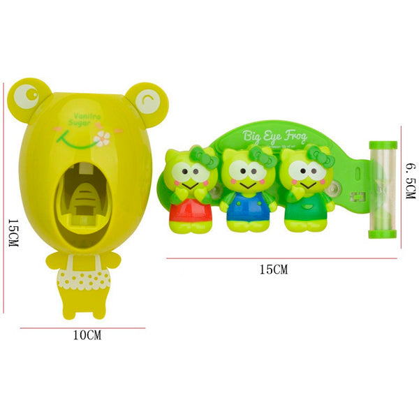 Cartoon Automatic Toothpaste Dispenser+Holder