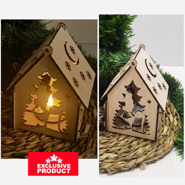 Laser Cut Wooden Christmas Village House
