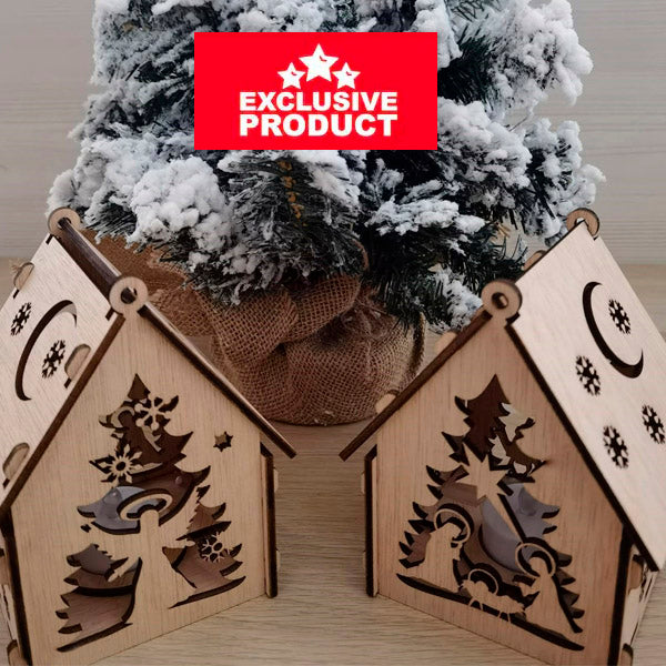 Laser Cut Wooden Christmas Village House 4