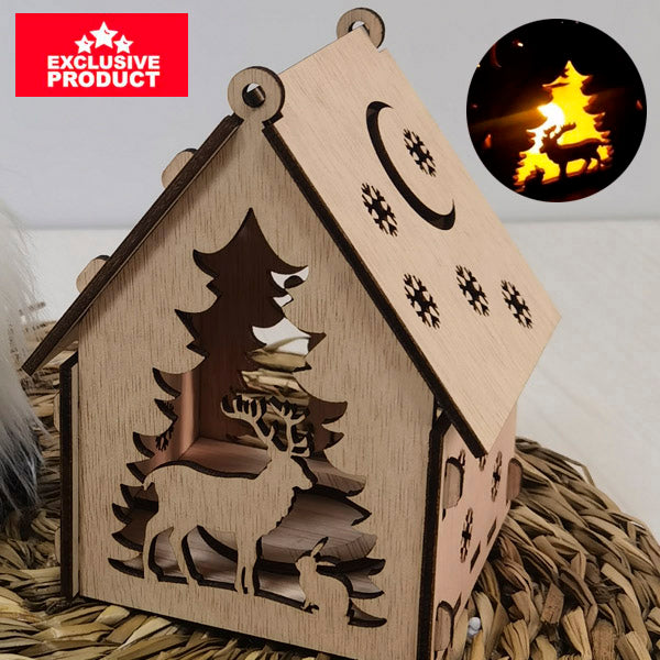 Laser Cut Wooden Christmas Village House 2