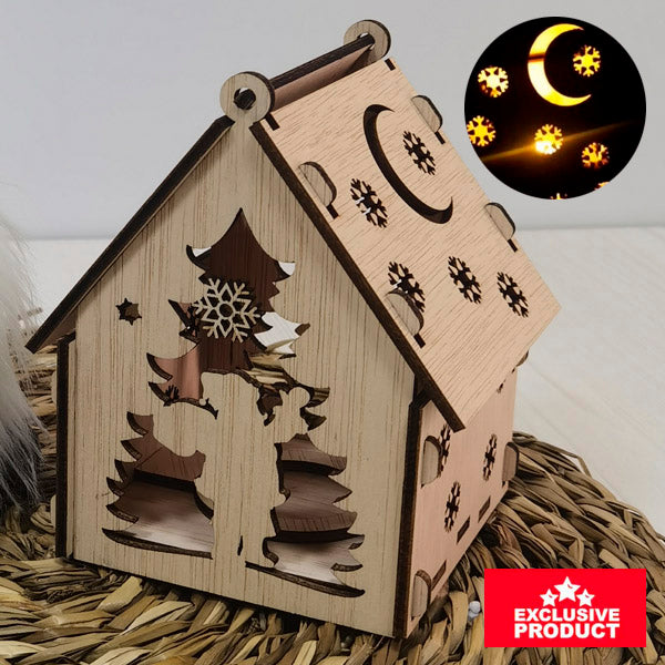 Laser Cut Wooden Christmas Village House 3