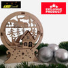 Laser Cut Wooden Christmas Village House 1