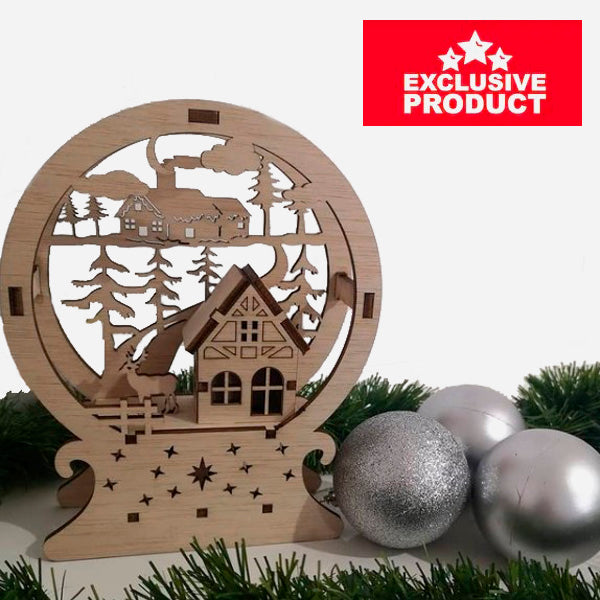 Laser Cut Wooden Christmas Village House 6