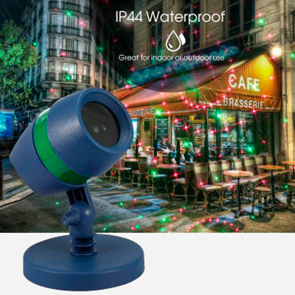 Waterproof Laser Light Projector with Christmas Decoration