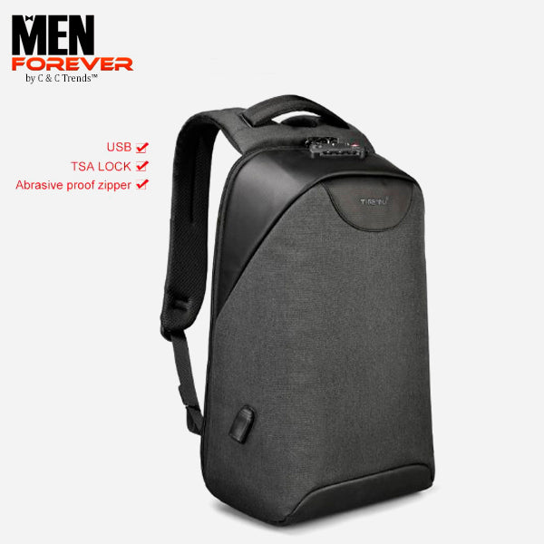 City Anti theft USB Charging Backpack 27a