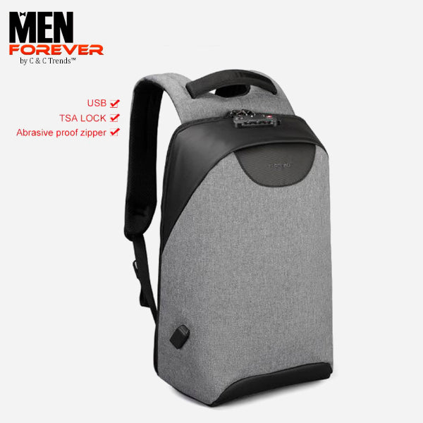 City Anti theft USB Charging Backpack 28a